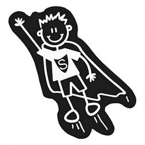 Adesivo per Auto Family Bimbo Superman