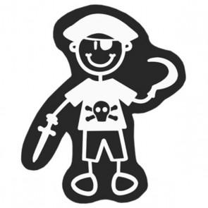 Adesivo per Auto Family Bimbo Pirata