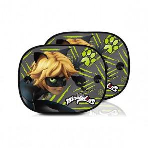 Tendina Laterale per Auto Lady Bug Cat Noir (2 uds)