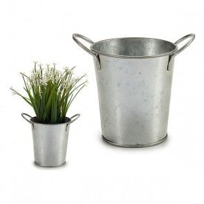 Vaso zinco Argentato (11 x 12 x 16 cm)