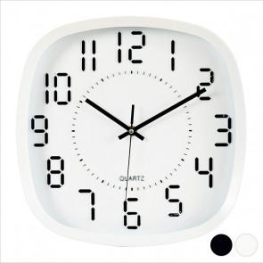 Orologio da Parete Bianco Nero (31 x 4,5 x 31 cm)