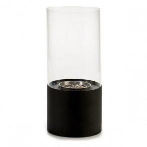 Bruciatore Nero Metallo Vetro Metallo (12 x 26 x 12 cm)