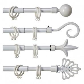 Bastone per Tende (5 x 125,5 x 5 cm) Bianco