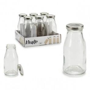 Bottiglia di Vetro Argento (6 x 12,5 x 6 cm)