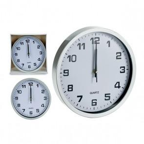 Orologio da Parete Gift Decor Argento (25 x 3,6 x 25 cm)