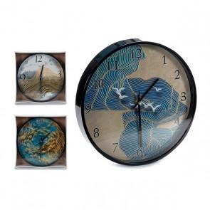 Orologio da Parete Gift Decor Nero (30 x 4 x 30 cm)