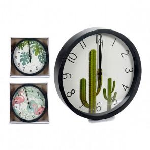 Orologio da Parete Gift Decor Nero (25 x 3,9 x 25 cm)