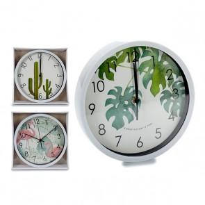Orologio da Parete Gift Decor Bianco (25 x 3,9 x 25 cm)