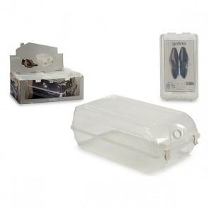 Contenitore per Sistemare le Scarpe Plastica (21 x 13 x 37 cm)