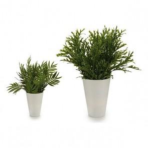 Vaso Albă Frunze Bianco