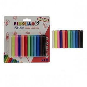 Barre di plastilina 12 colori
