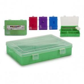 Scatola Multiuso (12 x 3 x 21 cm) Plastica Trasparente