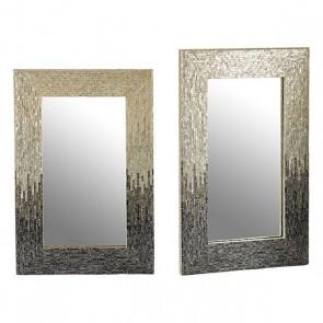 Specchio Gift Decor Grigio (2,5 x 91,5 x 61,5 cm)