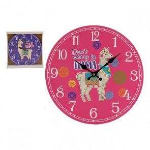 Orologio da Parete Legno (3 x 33,8 x 33,8 cm)