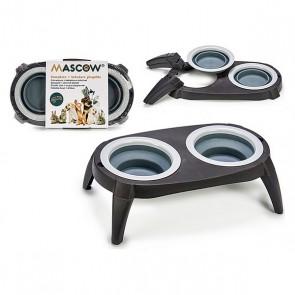 Ciotola per animali domestici Grigio Silicone (40 x 3,5 x 22 cm)