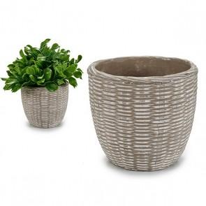 Vaso Cemento (14,5 x 12 x 14,5 cm)