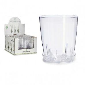Vaso Trasparente Plastica Trasparente (13 x 13 x 13 cm)