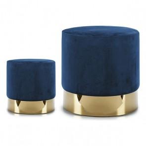 Puff Gift Decor Azzurro Velluto (38 x 42 x 38 cm)