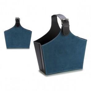 Portariviste Gift Decor Azzurro Velluto (15 x 36 x 34 cm)
