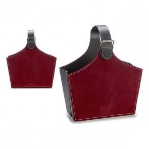 Portariviste Gift Decor Velluto Rosso Granato (15 x 36 x 34 cm)