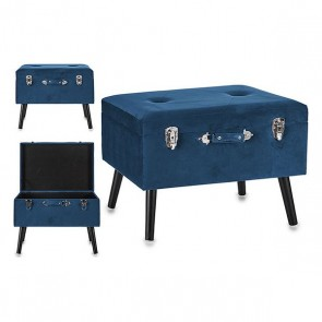 Valigia Grande Gift Decor Azzurro Velluto (39 x 46 x 59 cm)