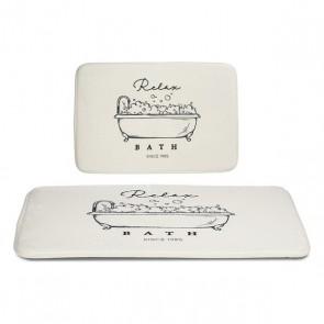 Tappeto da bagno Bianco (40 x 60 cm)