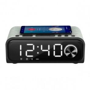 Radio Sveglia con Caricabatterie Wireless Energy Sistem Speaker 4 Bluetooth 5.0 10W Nero Argentato