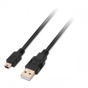 Cavo USB 2.0 A con Mini USB B NANOCABLE 10.01.0402 1,8 m Nero