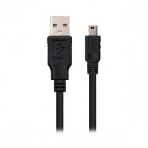 Cavo USB  con Mini USB NANOCABLE 10.01.0401 Nero (1 M)