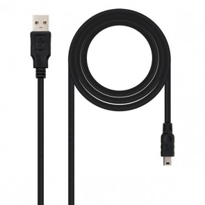 Cavo USB 2.0 A con Mini USB B NANOCABLE 10.01.0403 3 m Nero