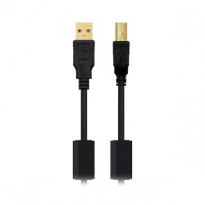 Cavo USB 2.0 A con USB B NANOCABLE 10.01.120 Nero