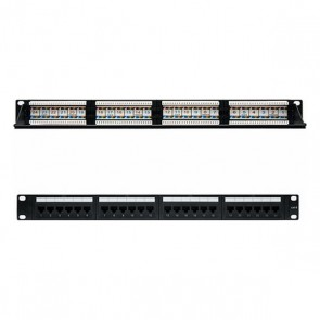 "Patch Panel 24 Porte UTP Categoria 6 NANOCABLE 10.21.3124 19"" RJ45 Nero"