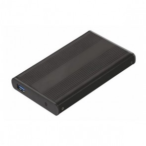 """Scatola Esterna TooQ TQE-2524B HD 2.5"""" SATA III-USB 3.0 FAT32 / NTFS / eXT2 / HFS Alluminio Nero"""