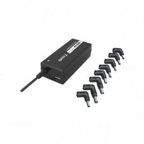 Caricabatterie Portatile TooQ TQLC-65BS02AT 65W 8 Connettori Nero