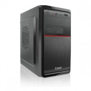 Cassa Minitorre Micro ATX con Lettore di Schede TooQ TQC-4745DU3C-B Nero