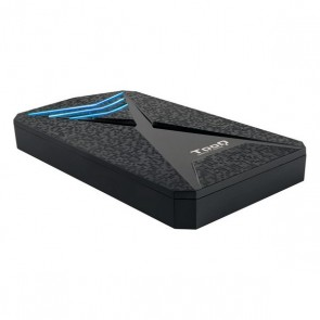 "Involucro per Hard Disk TooQ TQE-2550BL 2,5"" USB 3.0 Nero"