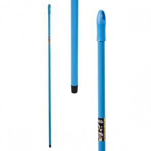 Mazza con Spazzolone Metallo Azzurro (140 Cm)