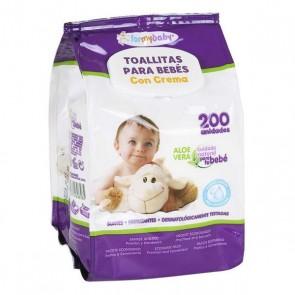 Salviettine per Bambini con Crema (200 uds)