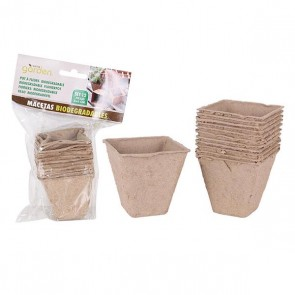 Set di Vasi Little Garden Biodegradabile (12 Uds)