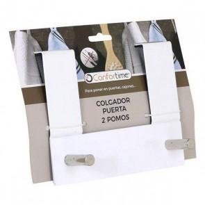 Appendiabiti per Porte Confortime (2 Grucce) (17 X 13,4 x 8,5 cm)