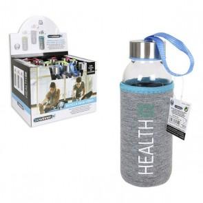 Bottiglia d'acqua Bewinner Health Vetro Custodia Cotone (300 ml)