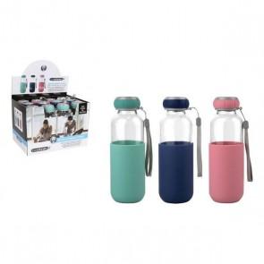 Bottiglia d'acqua Bewinner Vetro Custodia Silicone (300 ml)