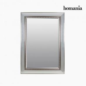 Specchio Resina sintetica Cristallo smussato Argento (80 x 4 x 110 cm) by Homania