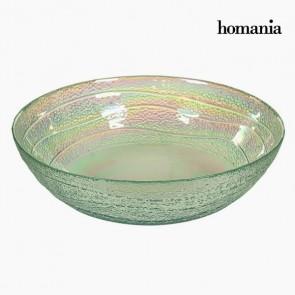 Ciotola in Vetro Riciclato Trasparente (Ø 18 cm) - Pure Crystal Deco Collezione by Homania