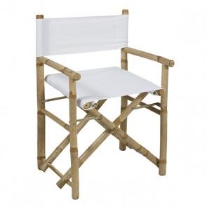 Sedia (89 x 58 x 45 cm) Bambù Bianco