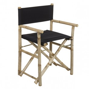 Sedia (58 x 45 x 89 cm) Bambù Nero