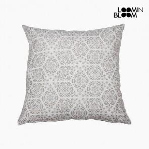 Cuscino Cotone e poliestere Grigio (45 x 45 x 10 cm) by Loom In Bloom
