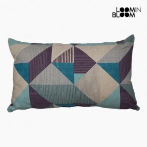 Cuscino Cotone e poliestere Azzurro (30 x 50 x 10 cm) by Loom In Bloom