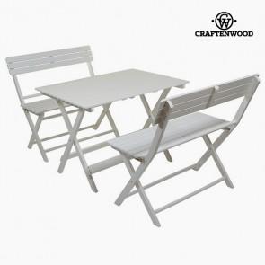Tavolo con 2 sedie (100 x 70 x 70 cm) Legno di pioppo