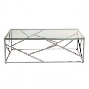 Tavolino da Caffè (120 x 60 x 40 cm) Vetro temperato